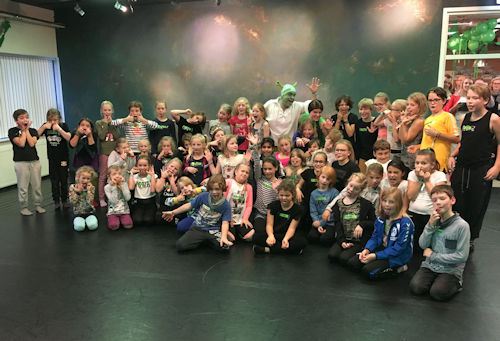 Shrek de Musical_de deelnemers aan de workshop en auditie