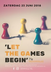 'Let the games begin'- Volwassenen, 71e Bransz leerlingenvoorstelling @ Theater Junushoff | Wageningen | Gelderland | Netherlands